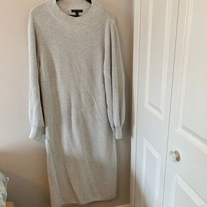 Oversized, knit, sweater, dress